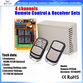 DC 12V 4 CH channel RF remote control switch 4 relay receiver