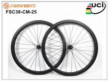 Disc brake road carbon bike wheelset 38, carbon fiber cyclocross bike clincher wheels with 25mm wide DT350 hub