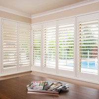 China made high quality interior bi-fold timber plantation window shutters in low prices for sale