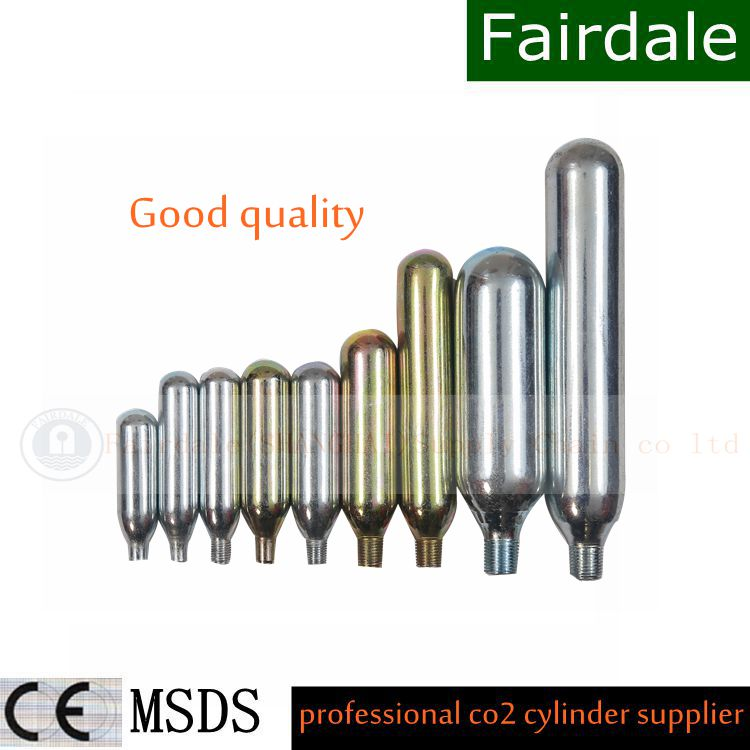 Low Price 38 gram 3/8-24 threaded CO2 Cartridge with high quality