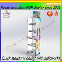 High quality free standing wire display racks