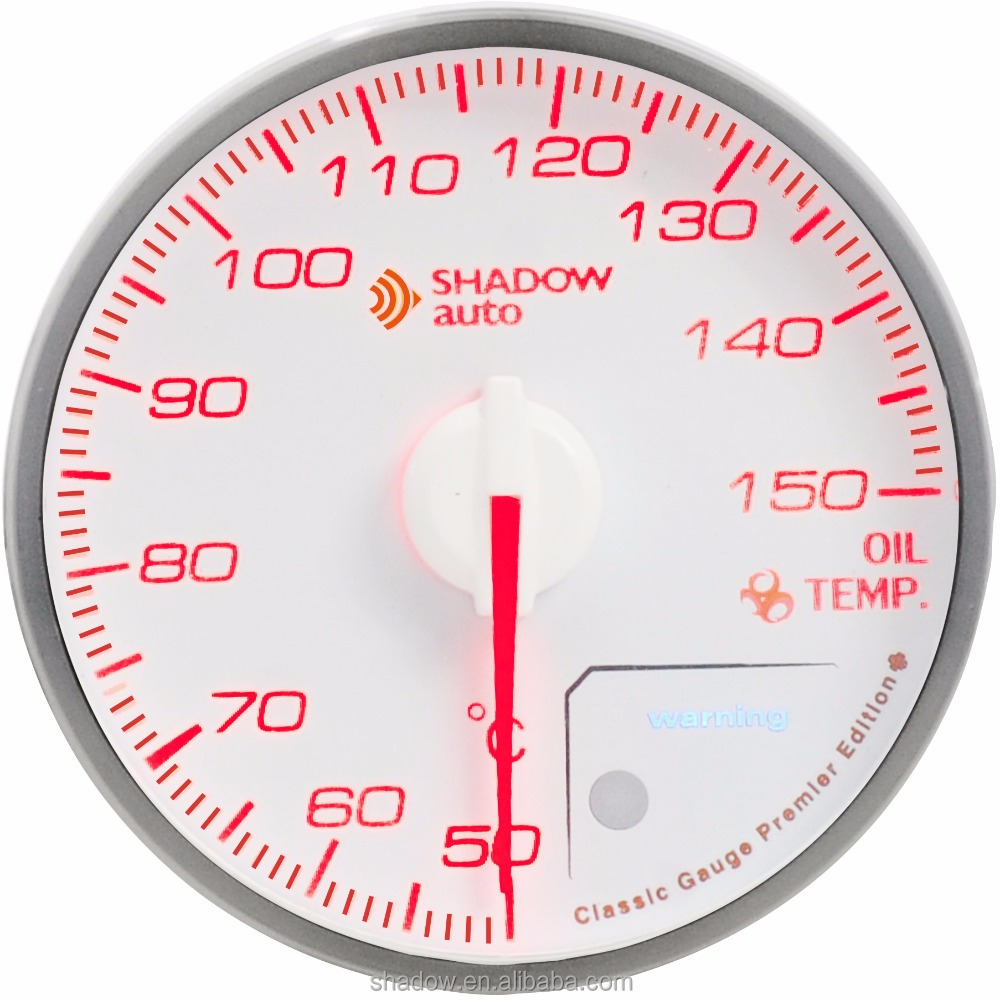 SHADOW CLASSIC White 60mm Oil Temperature Gauge For Honda Car Parts for Civic CRV