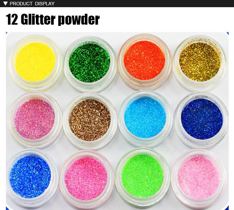 Wholesale Free Shipping mix styles 3D Nail art Powder/ Acrylic ...