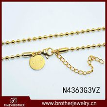 Gold ball chain necklace with extension