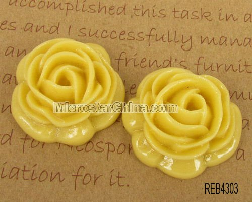 Resin rose cabochon for mother's day