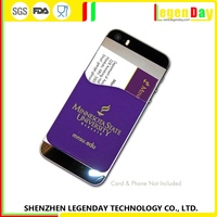 China Supplier silicone phone back smart card pouch