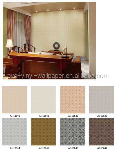 2017 Wholesale waterproof home decoration pvc vinyl wallpaper