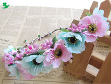 fashion penelople floral crown baby headband, flower crown headband for women