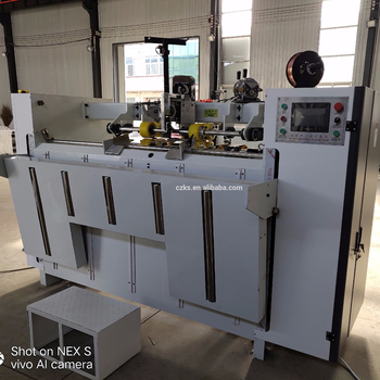 High speed single chip double servo semi auto stitcher and nail box machine