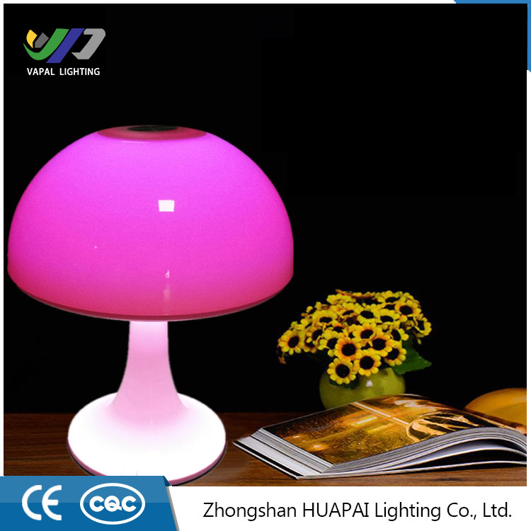 Decorative Bedside Romantic Lampshade Table Lamp with Color Changing Base Switch night light