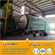 Continuous waste plastic pyrolysis to oil machine