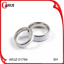 18k white gold plated cheap wholesale men stainless steel ring wedding rings for men