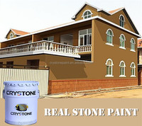 Outdoor stone wall tile water based acrylic resin based granite paint