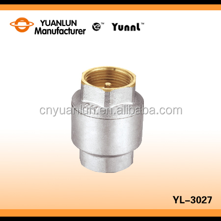 Durable Professional Ball Type Brass YL-3027 Spring Check Valve Price