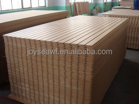 melamine slotted board MDF board carved board