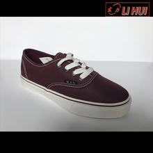 China latest design rubber flat canvas stylish canvas shoes