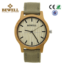 2017 Fashion factory price Bewell Japan Quatrz Movement Mens wrist bamboo Wood Watch