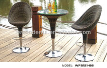 WF2121-66 wicker rattan patio bar set