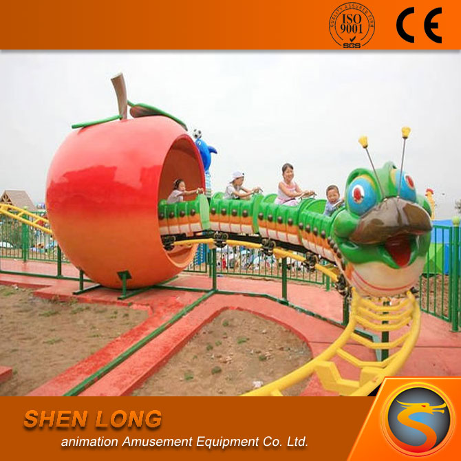 Kiddie amusement rides roller coaster caterpillar ride park amusement equipment for sale