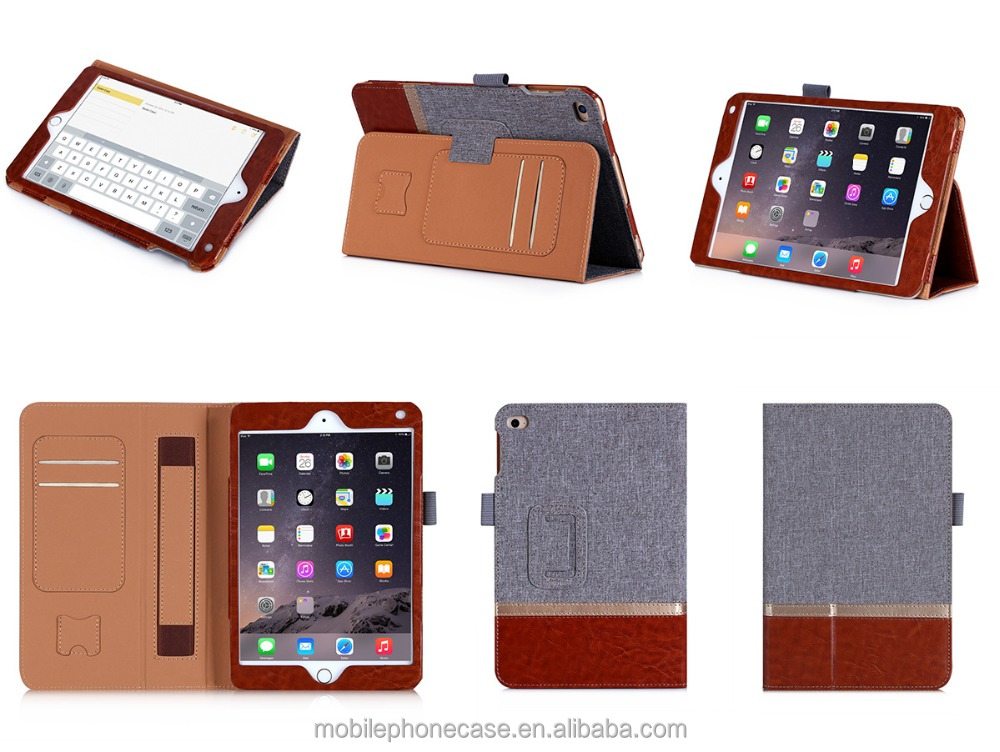 2015 Hot SaVling New Arrival Fashion Manufaturer Tablet Leather Stand And Flip Case For Ipad Mini4