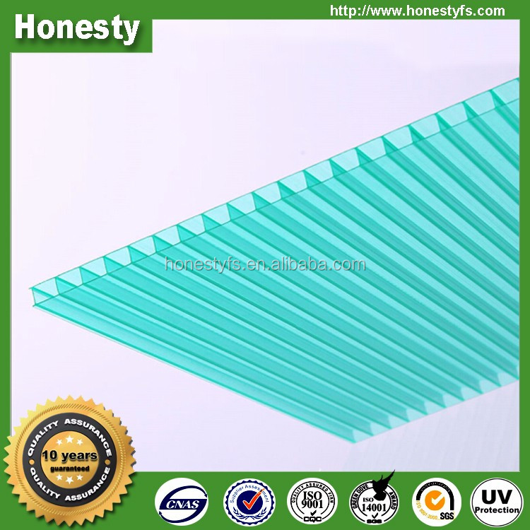 Colored polycarbonate sheet poly carbonate sheets 4mm twin wall transparent polycarbonate hollow roofing sheet