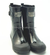 Waterproof Stylish sexy high heel boots women sex ladies rubber boots