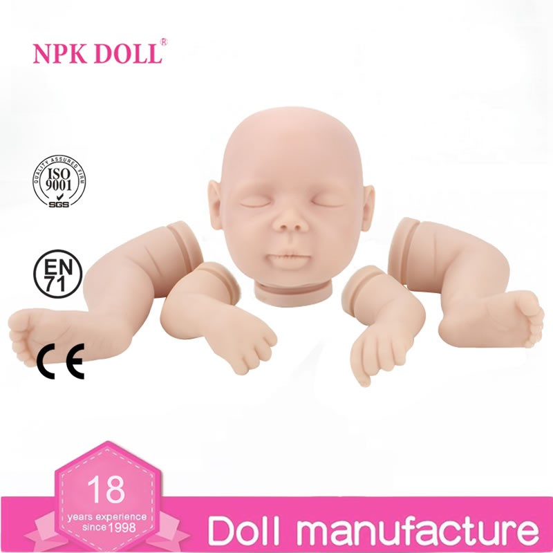 Wholesale Sleeping Reborn baby Doll mold vinyl Kits Beautiful 20 inch <strong>parts</strong>
