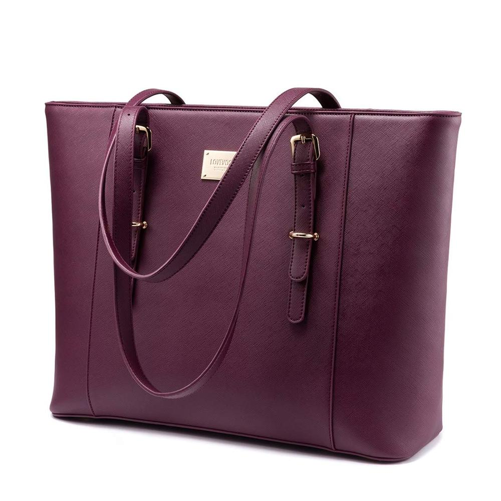 Fashion Tote Handbag Large Computer Bags for <strong>Women</strong> Laptop Purse Leather Bag