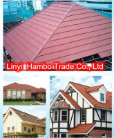 Nigeria style of stone coated metal roof tile