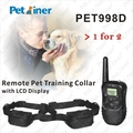 High quality electric shock device for training dogs with LCD display