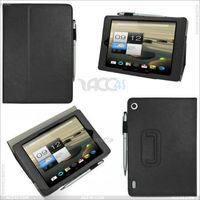 2013 Hot selling Stand PU Leather Case with touch pen slot for Acer Iconia A1-810- - P-ACERA1CASE005