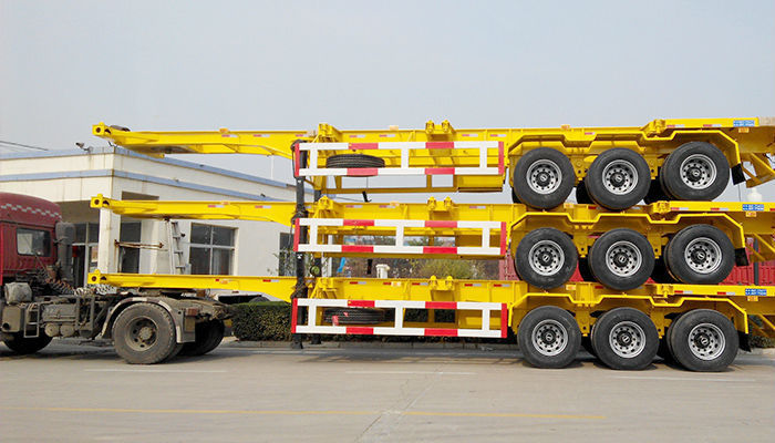 40ft Container Chassis Skeleton Trucks Semi Trailer With Twist Lock