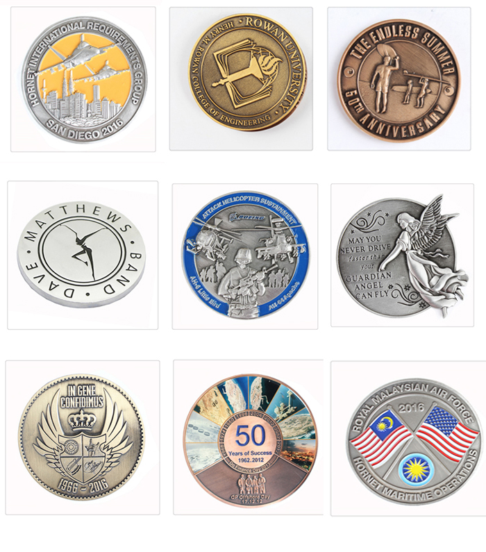 2019 hot sale metal customized challenge coins souvenir coins