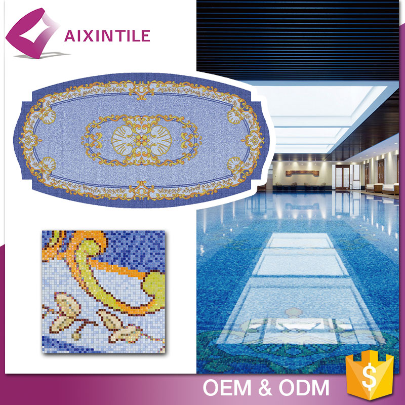 Blue Color Mosaic Type Bullnose Swimming Pool Tile Prices