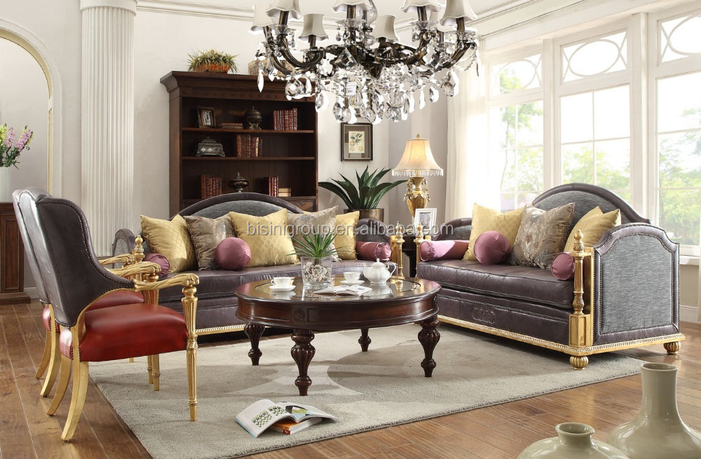 Merveilleux Luxury Exquisite Italian Leather Sofa Set For Living Room BF11 11102a