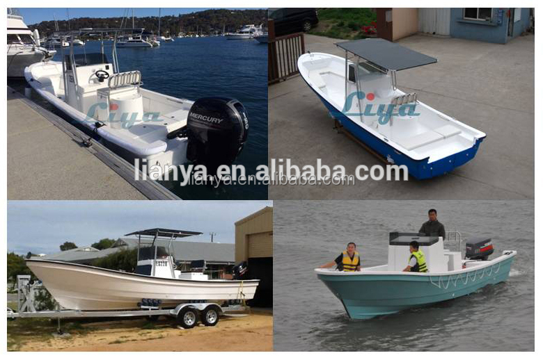 Liya deep V fishing boat 25ft boats fiberglass fishing with motor