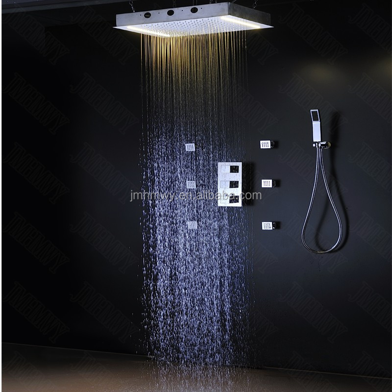 Wholesale New design body jet shower set electric led light ...