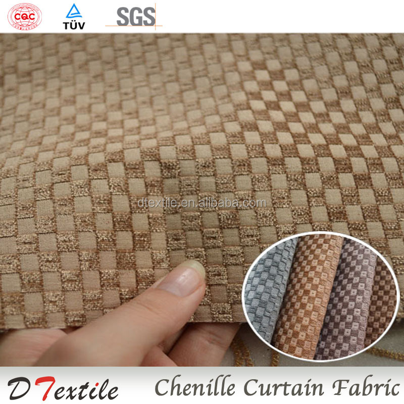 wholesale market jacquard chenille curtain fabric hotel luxury blackout curtains