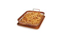 Copper Crisper Grill Basket Set with Grill Pan