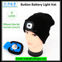 Beanie Hat With Batton Battery Led Light ,Led Light hat