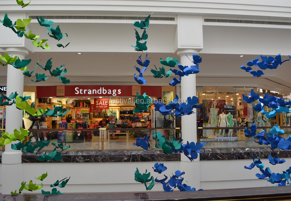 New design shopping mall butterfly atrium decoration view for A t design decoration co ltd