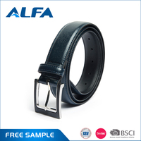 Alfa Wholesale The Most Popular Products Split Leather Belts PU Coating Popular Brand Belt For Men