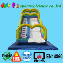 commercial grade inflatable water slides with pool for adult