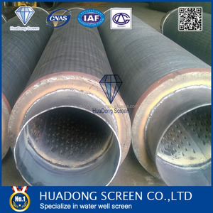 (Manufacture)SS 316L Water well Screen/V wire screen jacket for export Egypt