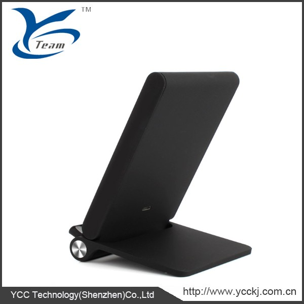 3 Coils Qi Wireless charger stand charging pad for mobilephone Samsung S6, Note 5, Nexus 7 and All Qi-enabled devices.
