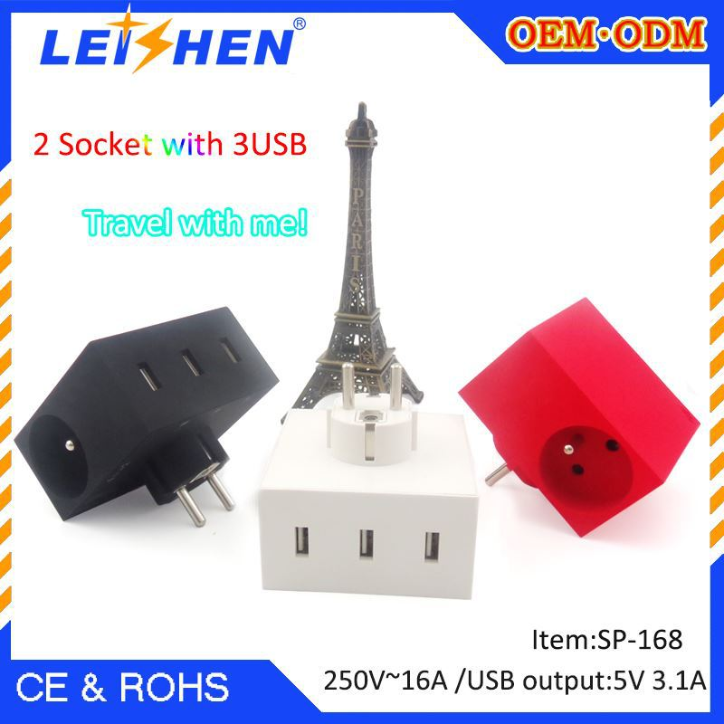 Hot selling france 2 pin ac power plug 250V 16A