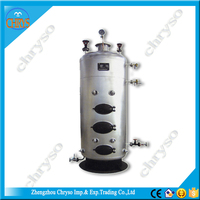 Vertical industrial biomass pellet hot water boiler, wood fired water heater