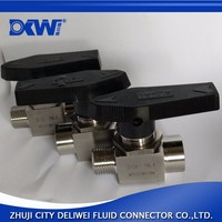 Two way SS304 natural gas ball valve