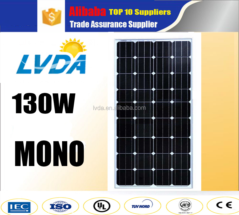 China best 10 PV supplier mono solar panel 130w 140w 150w 160w pv solar panel price Germany technology mono solar panel
