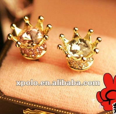 Exquisite Crown Really Gold Plated Cellphone Dust Plug